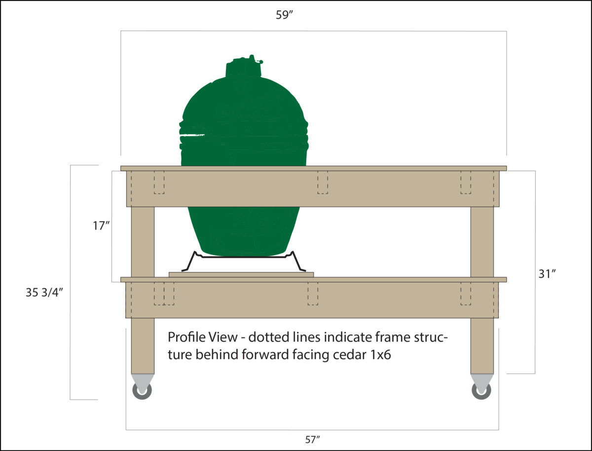 Captivating Big Green Egg Table Plans